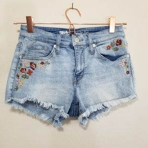 Mossimo denim embroidered high rise short